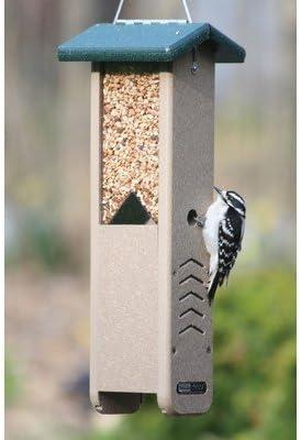 Birds Choice - Comedero para pájaros carpinteros con techo verde por Bird's Choice