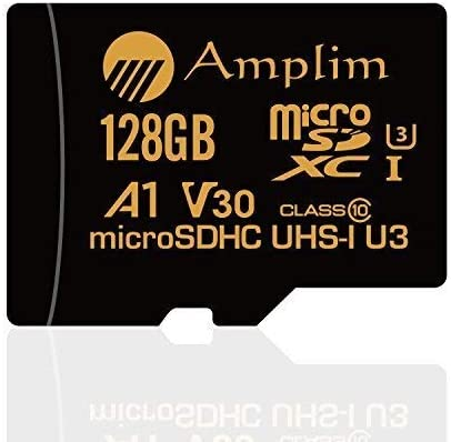 Amplim 128GB Micro SD SDXC V30 A1 Memory Card Plus Adapter Pack (Class 10 U3 UHS-I Pro MicroSD XC) 128 GB Ultra High Speed 667X 100MB/s UHS-1 TF ...