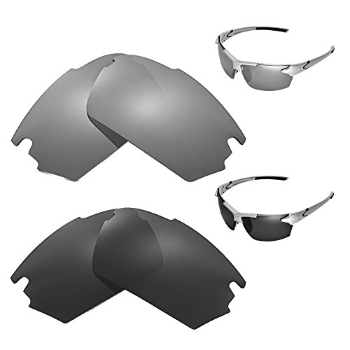 Jet Polarized Lens - Walleva Polarized Titanium + Black Replacement Lenses for TIFOSI Jet Sunglasses