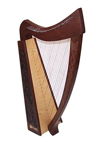 36 inch Large Hand Made and Hand Polished 22 Strings Harp Free Carrying Case by Sturgis
