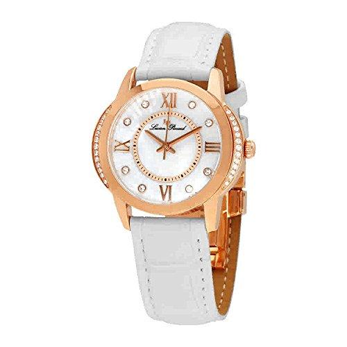 Lucien Piccard Womens Crystal - Lucien Piccard Women's LP-40001-RG-02S-WHT Dalida Analog Display Quartz White Watch