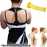 Back Brace Posture Corrector - Best Fully Adjustable Support Brace - Improves Posture - Provides Back Support & Relief Upper Back Pain   for Women and Men