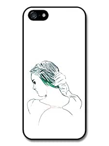 Girl with Long Hair Drawing Original Art Illustration Case For HTC One M7 Cover