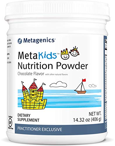 Metagenics MetaKidsTM Nutrition Powder 14.32 oz (406 g), Kids Nutritional Shake, Chocolate, 14 Servings - Non-GMO & Gluten Free