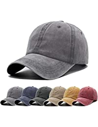 7496caee87b6df Unisex Vintage Washed Distressed Baseball-Cap Twill Adjustable Dad-Hat