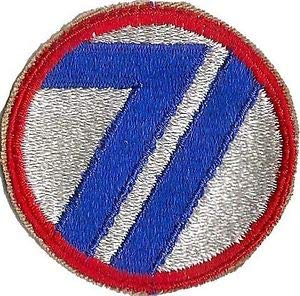 US Army 71ST Infantry Division Unit Patch WWII (Original) by HighQ Store - Army Wwii Patches