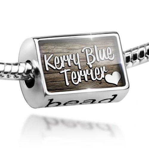 Blue Kerry Charm Dog Terrier (Bead Kerry Blue Terrier, Dog Breed Ireland - Charm Fit All European Bracelets ,)