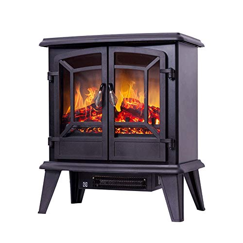 Cheap RKRGQ 1400W Electric Fireplace Fireplace Stove Heater Electric Stove Fireplaces Electric Fireplace Heater Log Burner Flame Effect Electric Fireplace Stove Heater(Black) 510x280x585mm Black Friday & Cyber Monday 2019