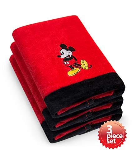 Mickey Mouse Bath Towels - Jay Franco & Sons Disney's Mickey Mouse Super Absorbent and Soft Fingertip Towel 100% Cotton 11