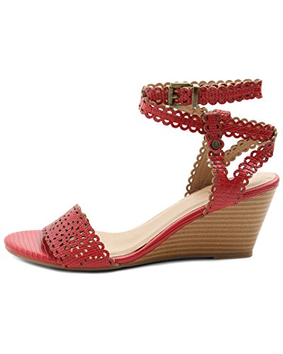 Sissy Toe Plateau Casual Open Rosso Womens Sandali Xoxo Con qpZwg5fHxx