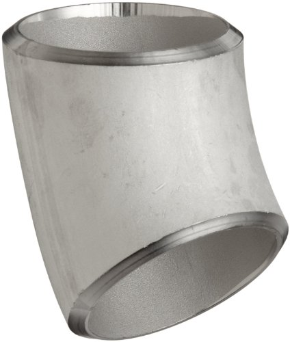 Stainless Steel 316/316L Butt-Weld Pipe Fitting, Long Radius 45 Degree Elbow, Schedule 40, 4