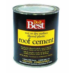 Do it Best Fibered Plastic Roof Cement-Wet or Dry Surface, QT W/D PLASTIC RF CEMENT by Henry