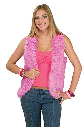 Forum Novelties Women's 60's Mod Revolution Groovy Pink Vest Costume Accessory, Multi, -
