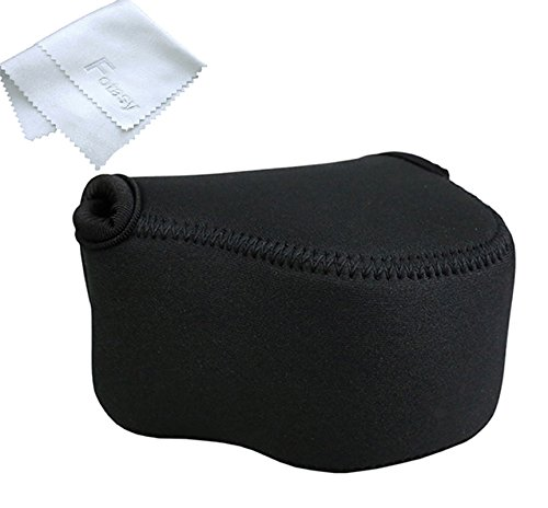 Black Mirrorless Camera Pouch for Sony A6300/A6000/A5100/A5000 with 16-50mm Lens, Fujifilm X-M1/X-T10 with 18mm Lens, X30 X 70, Panasonic LX100 & Sony RX1 RX1R II