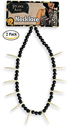 Jungle Necklace Caveman or Prehistoric Costume Accessory, 2 pack
