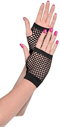 Child Short Black Gloves (80's fishnet gloves short)