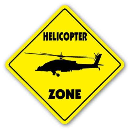 HELICOPTER ZONE Sign xing heli helo rotor blade hewey bell jet ranger sikorsky (Helicopter Jet Bell Ranger)