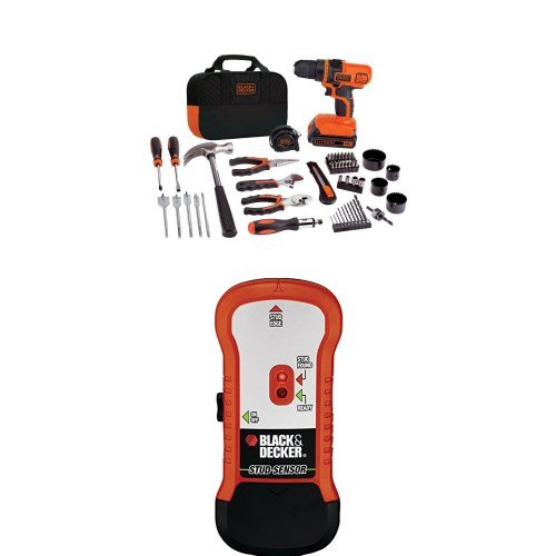 BLACK+DECKER LDX120PK 20-Volt MAX Lithium-Ion Drill and Project Kit w/ Wood Stud Finder