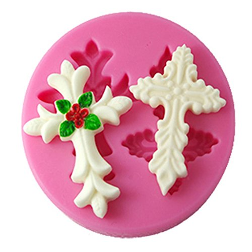 FOUR-C Silicone Decor Mould 3D Cake Mold Fondant Tools Color Pink