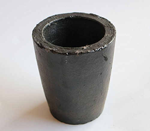 OTOOLWORLD 2KG Casting Clay Graphite Crucibles Torch Melting Casting Refining Gold Silver Copper Brass Aluminum