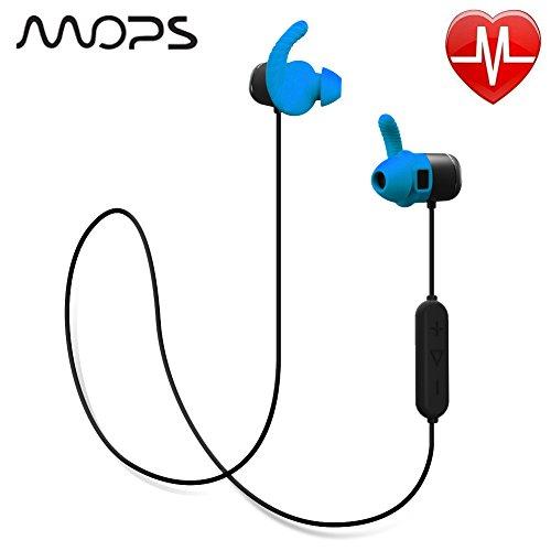 Wireless Sports Bluetooth Earphones, Built in Heart Rate Monitor ()