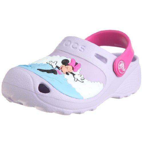 Crocs Minnie Makin Waves Clog (Toddler/Little Kid),Lavender/Fuchsia,12-13 M US Little Kid