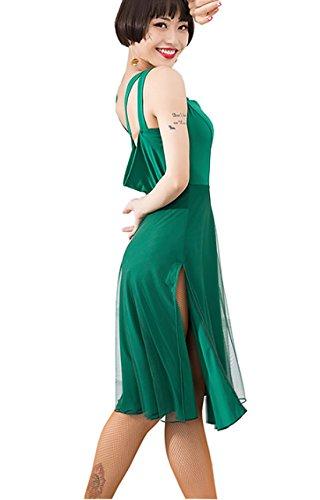 Rumba Skirt Cha Waltz Cha Green Latin Skirts Dress Dress Ballroom Sexy Skirt 8zO1pZ8T