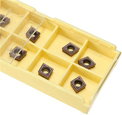 HYY-YY 10pcs Carbide Inserts Carbide Cutter for Turning Tool Boring Bar CCMT060204 LF6018 Boring Inserts