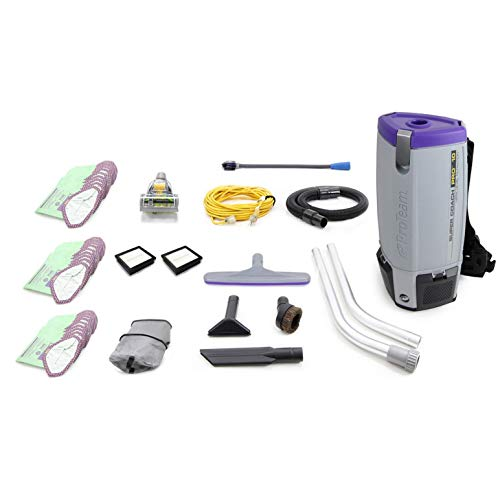 ProTeam Fully Loaded Super Coach Pro 10 QT Commercial Backpack Vacuum Cleaner Review