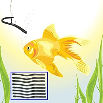Zhangl Pescar 100 PCS Artificial lombriz de Tierra se/ñuelos de Pesca Suave Silicona Gusanos Cebo de Pesca Pescar
