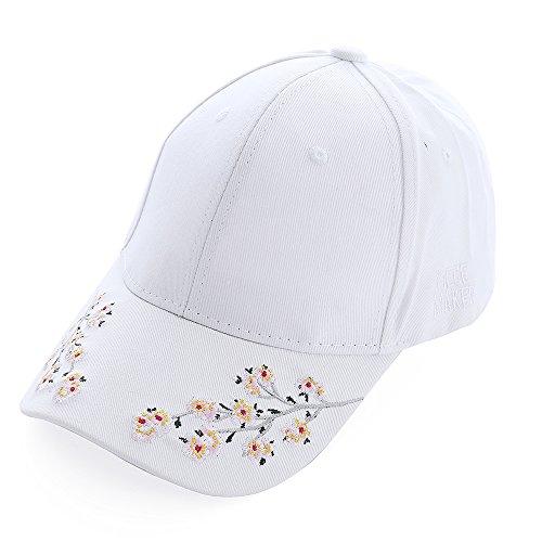 9d00cc86b9e doublebulls hats Women Girls Spring Summer Sun Hat Flower Cotton Baseball  Cap