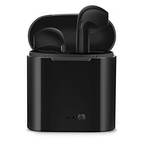 Bluetooth Headphones,bonsalay Wireless Headphones Stereo In-Ear Earpieces with 2 Wireless Built-in Mic Earphone and Charging Case for Most Smartphones-Black