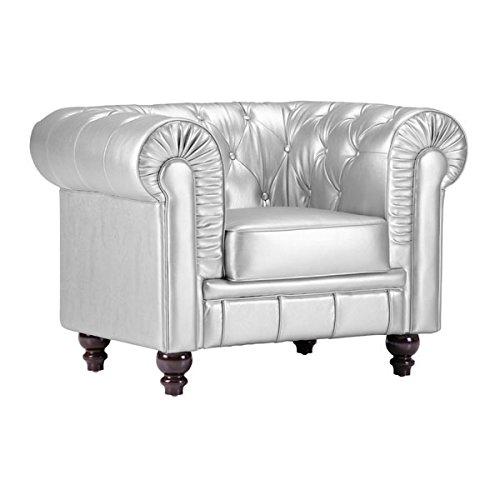 Zuo Aristocrat Arm Chair, Silver