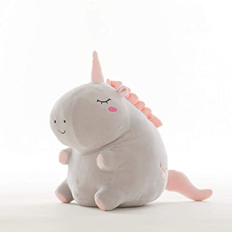 Amazon.com: Almohada de felpa de unicornio gordito, suave ...