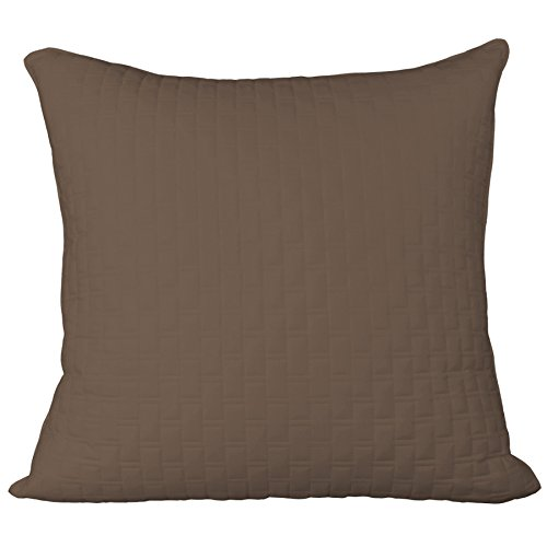 (BedVoyage Home Decorative Euro Sham - Mocha )