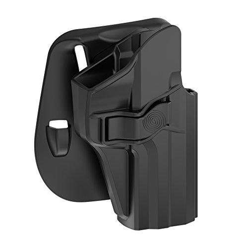 TEGE H&K USP 9mm/40 Full Size Holster, OWB Polymer Paddle Holster for Heckler & Koch USP 9 mm .40, Right - Holster Paddle Adjust Angle