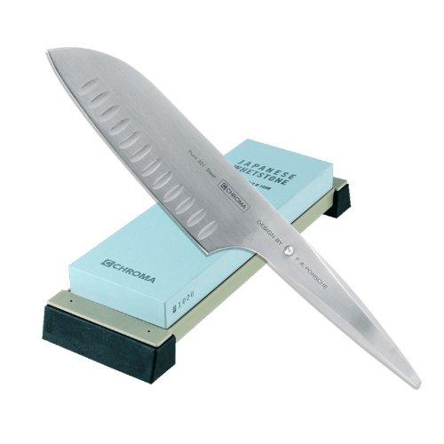 Compra Chroma Type 301 cuchillos Santoku Hoja festoneada + ...