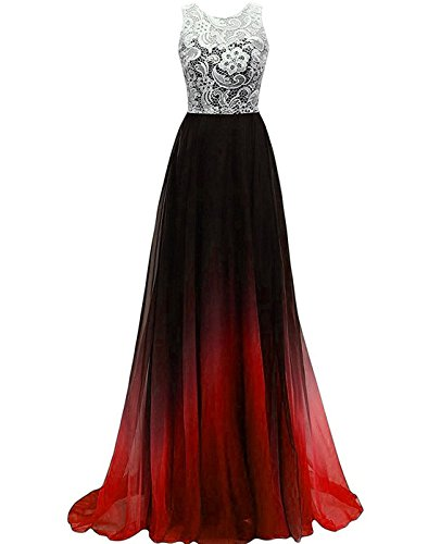 Zvocy Gradient Chiffon Long Prom Dress Ombre Halter Evening Dress