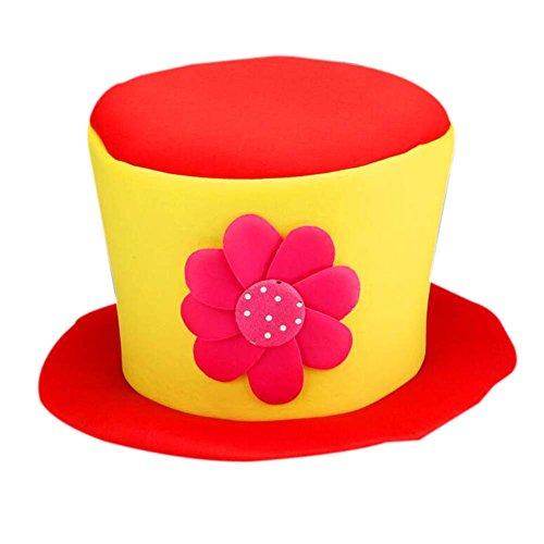 Clown Top Hat (Clown Top Hat Party Costume Carnival Cap Clown Hat Clown Cap Halloween Hat)