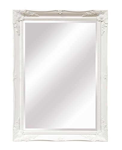 "SBC Decor Maissance Traditional Wall Mirror, 29.5"" x 41.5"" x 1.5"", White"