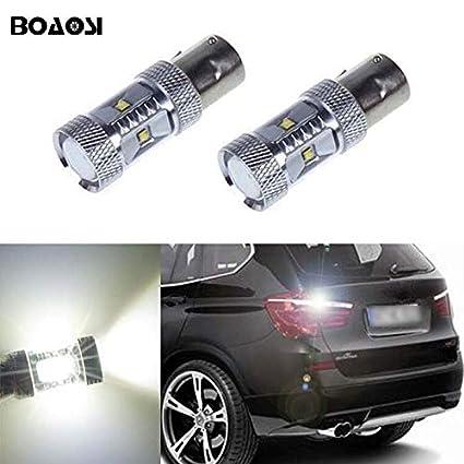 For BMW E46 X5 E53  P21W 80W LED XENON BRIGHT WHITE REVERSE LIGHT BULBS UPGRADE