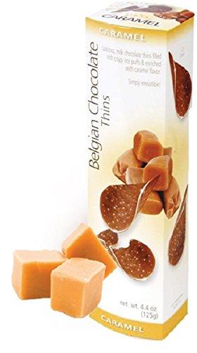 (Royal Chocolates Caramel Belgian Chocolate Thins 4.4 Ounce Box)