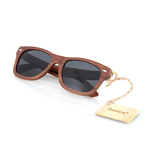 Walnut Wood Wooden Polarized Sunglasses Natural Floating Light Frames W/Pouch 1 HANDCRAFTED WOODEN SUNGLASSES- Each pair of sunglasses is unique and is made from sustainable walnut wood. These sunglasses are lightweight and float in the water POLARIZED LENSES - Our polarized lenses provides crystal clear vision and anti-glare with UV400 protection FREE MICROFIBER POUCH- Each pair of sunglasses come with one pouch to store and protect them.