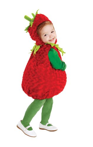 Food Baby Costumes Halloween (Underwraps Baby's Strawberry Belly, Red/Green, Medium)