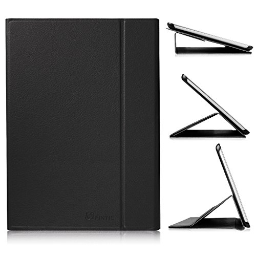 Fintie Smart Book Cover Case for Samsung Galaxy Tab A 9.7 (SM-T550, SM-P550) - Slim Light Weight Stand Supports Three Viewing Angles with Auto Sleep/Wake Feature, Black