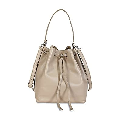 59da48753895 Image Unavailable. Image not available for. Color  Tory Burch Women s Toggle  Drawstring Bucket Bag