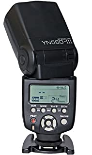 Yongnuo YN-560 III Speedlite Flash w/ built in RF602/603 trigger for Canon, Nikon, Olympus, Fuji & Pentax DSLR's with Standard Hot Shoe. (B00BIUDHG0) | Amazon price tracker / tracking, Amazon price history charts, Amazon price watches, Amazon price drop alerts