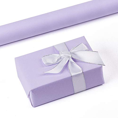 RUSPEPA Purple Kraft Wrapping Paper - 47.8 Sq Ft Heavyweight Paper for Wedding,Birthday, Shower, Congrats, and Holiday Gifts - 17.5Inch X 32.8Feet Per Roll