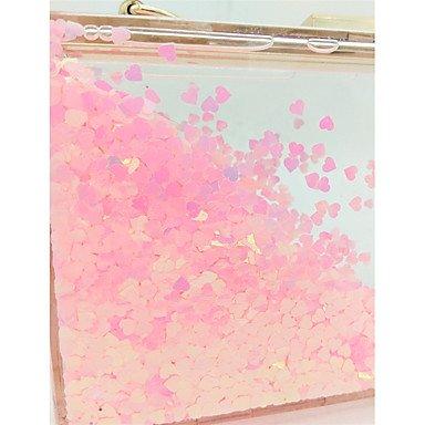 Burenqi@ Frauen; s Beutel Polyester Abendtasche All Pailletten für Hochzeit Event/Party All Abendtasche Seasons Rot Rosa - 570f79