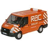 Oxford Diecast 76FT003 RAC New Ford Transit Van (L.Roof)